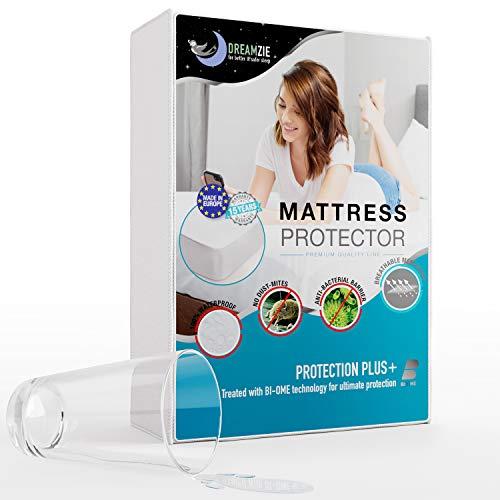 Dreamzie - Matratzenschoner 120 x 200 cm Wasserdicht - Atmungsaktive Matratzenauflagen 100% Baumwolle - Matratzen Topper Anti-Allergisch, Anti-Milben & Hygienischer - 15 Jahre Garantie