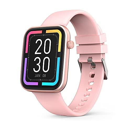 Smartwatch,1.69 Zoll Touchscreen Armbanduhr,Fitness Tracker IP67 Wasserdicht Sportuhr,Smart Band mit Blutdruckmessung Fitness Armbanduhr mit Pulsuhr Schlafmonitor,smart Watch Für Damen Herren (Pink)