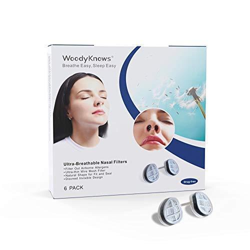 WoodyKnows Ultra-Atmungsaktive Nasenfilter (Schmal, Kombiniertes Testpaket, 4 Stück)