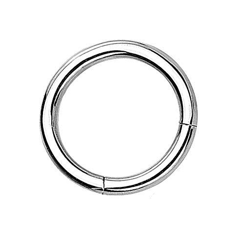 eeddoo Piercing-Ring Segment-Clicker Segment-Ring Silber Edelstahl 1,2 mm x 6 mm