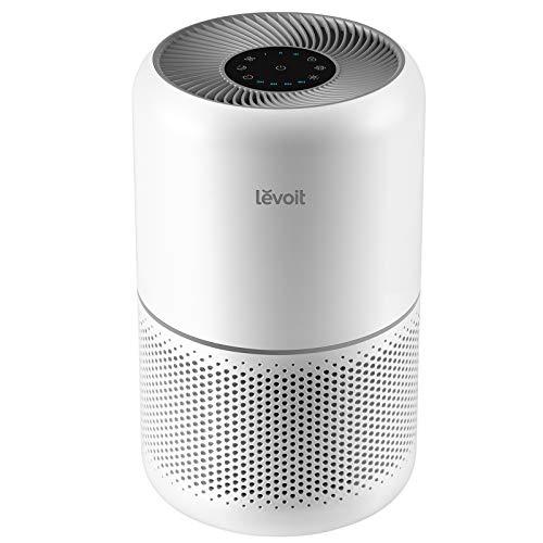Levoit Luftreiniger Air Purifier mit 99,97% Filterleistung gegen Allergie Aerosole Staub CADR 187m³/h, bis zu 40㎡, H13 HEPA & Aktivkohle Luftfilter für Allergiker Raucher, Timer Schlafmodus, Core 300