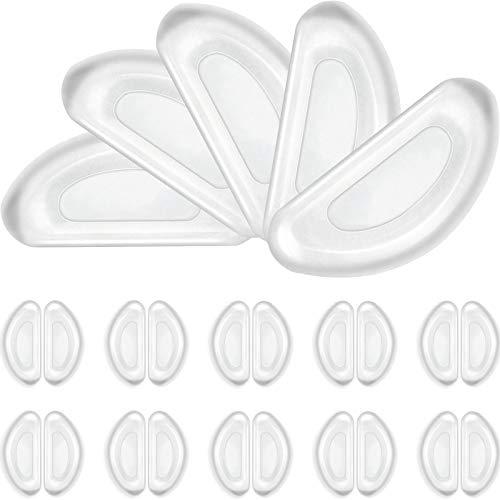 50 Paare Brille Nasenpads Weiche Silikon Nasenpads Rutschfeste Selbstklebende Nasenpads für Sonnenbrillen (Klar)
