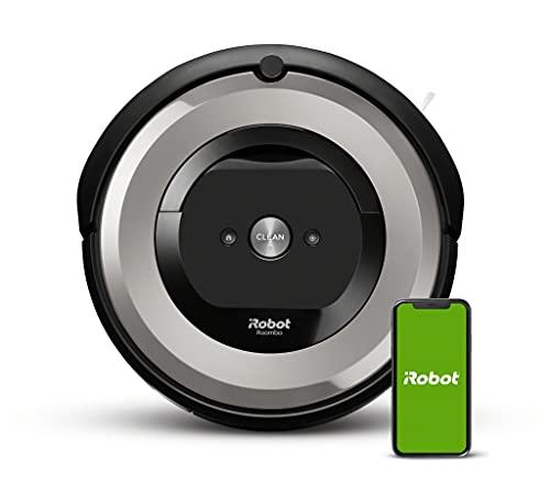 iRobot Roomba e5 (e5154) WLAN-fähiger Saugroboter mit zwei Gummibürsten für alle Böden – Ideal bei Haustieren – Individuelle Anpassung – Kompatibel mit Sprachassistenten – Waschbarer Auffangbehälter