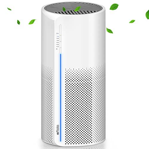 Luftreiniger Afloia Miro Air purifier mit echten 3 in 1 HEPA Filtern, perfekt für 20㎡ Raum, 130m³/h Leistung mit Nachtlicht gegen 99,9% Rauch Staub Pollen, 30dB leise für Haustierallergene Asthmatiker