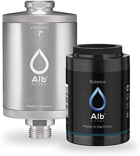 Alb Filter® Balance Duschfilter Set. Schadstoffe reduzieren zB Chlor, Schwermetalle. Made in Germany. Silber
