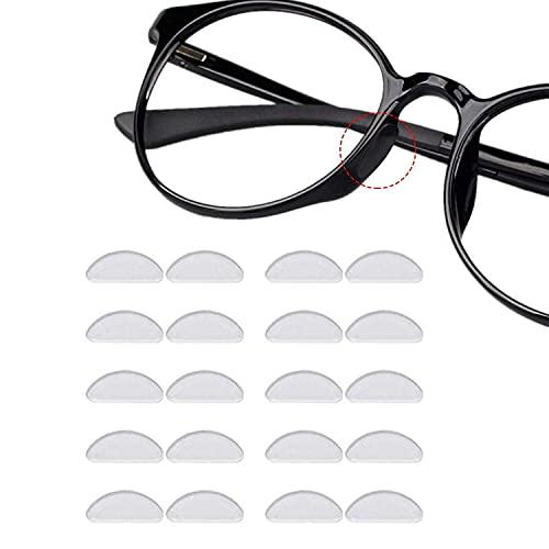 12 Paare Adhesive Nasenpads Anti Rutsch Silikon Brillen Pads für Gläser Sonnenbrille Brille (1.5 mm Durchsichtig)
