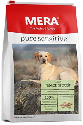 MERA Pure Sensitive Hundefutter  Insect Protein  Trockenfutter für Sensible Hunde - hypoallergen & umweltfreundlich - Single Protein Futter, 12.5 kg