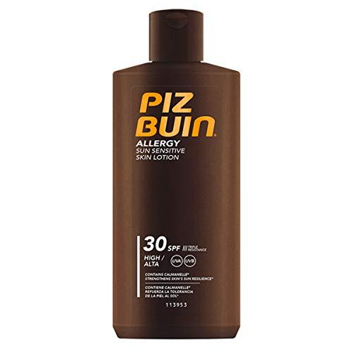 Piz Buin Allergy Sonnencreme mit LSF 30, Sonnenschutz für empfindliche Haut, wasserfest und schnell einziehend, 200ml