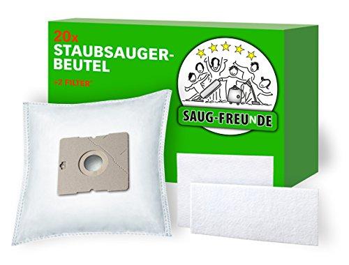 SAUG-FREUnDE I 20 Staubsaugerbeutel für AmazonBasics Bodenstaubsauger mit Beutel, 1,5L, Model No. VCB35B15C-1J7W-70, ASIN B07C3N686Y (DA6)
