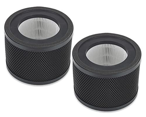 Supremery 2x Luftreiniger-Ersatzfilter kompatibel mit TaoTronics TT-AP001 Luftreiniger | 3-in-1 True Hepa Filter | Alternative zu TaoTronics Luftreiniger Filter