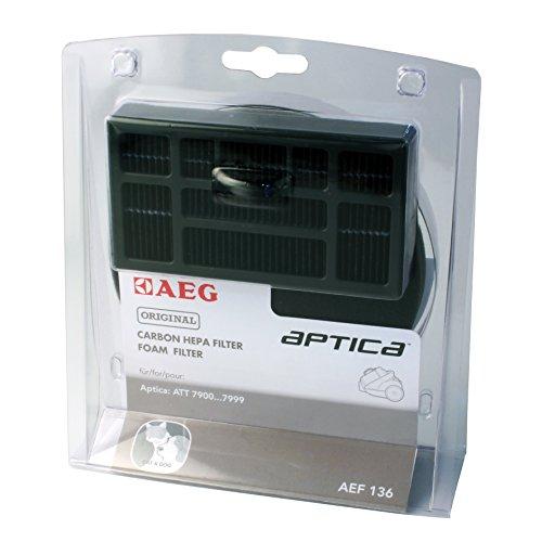 AEGAEF136 Filter-Set für beutellose Staubsauger (1 Motorfilter, 1 Hygienefilter, saubere Luft, Anti-Geruch, ideal für Haustierbesitzer, passgenau, Hepa Filter für AEG Aptica TT & Vampyr T10, schwarz)