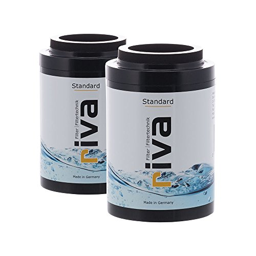 riva Filter | STANDARD Duschfilter 2er-Set Ersatzkartuschen, Wasserfilter - schützt vor Chlor und Schadstoffen. Reduziert Kalk-Belag, Hzwo-kompatibel
