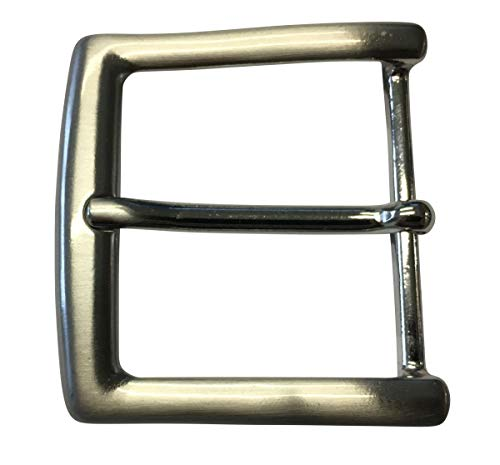 Gürtelschnalle 4,5 cm | Buckle Wechselschließe Gürtelschließe 45mm Massiv | Dorn-Schließe | Für Wechselgürtel bis zu 4.5cm Breite | Silber