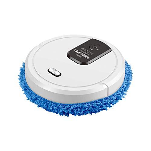 Roboterstaubsauger 2500PA Saugroboter mit Wischfunktion App-Steuerung, Dünner & Leiser Roboter-Staubsauger Intelligente Selbstaufladung für Haustierhaare, Hartböden & Niederflorteppich (Weiß)