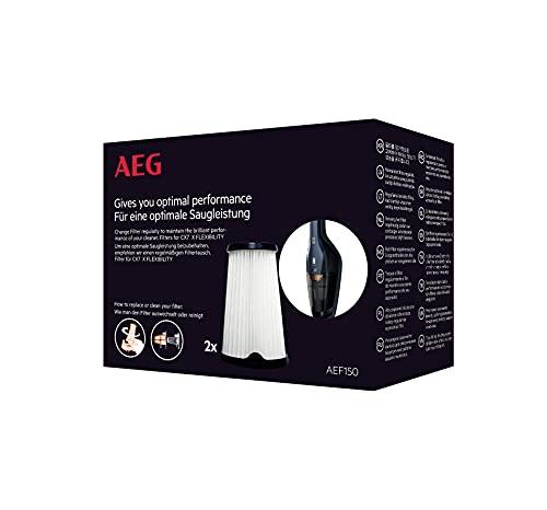 AEG AE150 Filterset für CX7-2 / Doppelpack / Innenfilter / Staubsauger Filter / optimale Saugleistung + Filtrationsleistung / regelmäßiger Filtertausch / einfache Reinigung + Austausch / schwarz/weiß