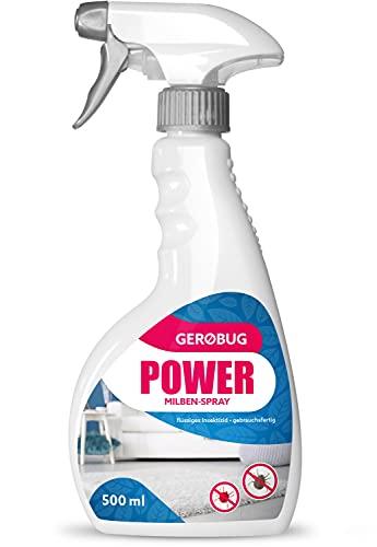 Gerobug Power Milben-Spray - Milben-Sprühmittel für Matratzen, Polster & Textilien - Anti-Milben-Mittel - effektive Schädlingsbekämpfung - 500 ml