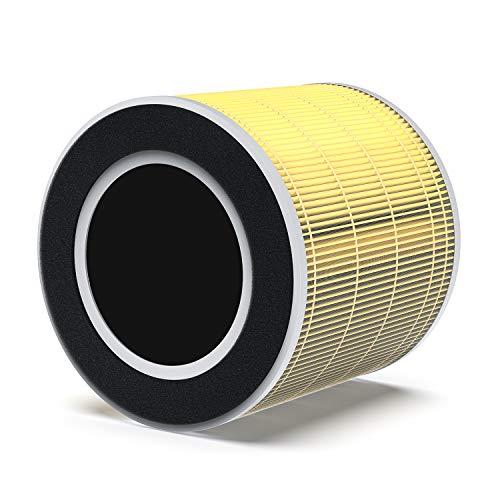 RENPHO True HEPA H13 Ersatzfilter für RP-AP089W/RP-AP089B/RP-AP089SW/RP-AP089SB, 5-Stufen-Filtersystem, Vorfilter, HEPA-Filter, Aktivkohlefilter und Netzfilter, speziell für Haustierallergien Geruch