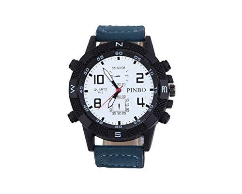 Miniblings Herren Damen Armbanduhr DAU HAU Uhr Zeit Kunstleder blau schwarz - Modeschmuck Handmade - Damen Mädchen Bettelarmband