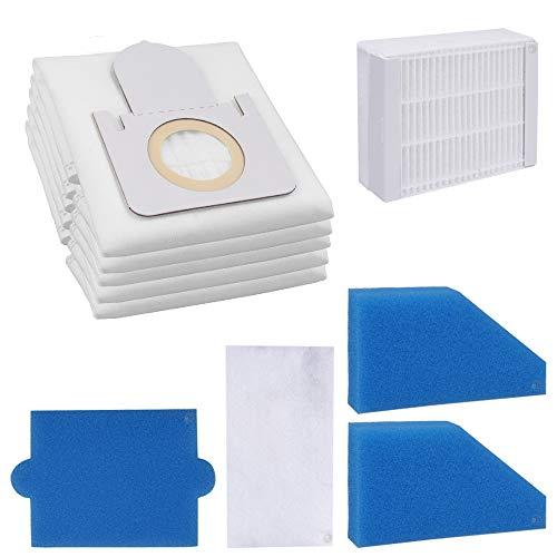 Smartes Sparset - 5HochwertigeStaubsaugerbeutel + Filterset- Für ThomasStaubsaugerAqua Pet & Family Anti Allergy uvm.passend- Bestleistung beim Saugen