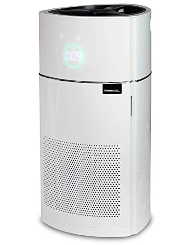 Comedes Lavaero 900 - Moderner 5-Stufen Luftreiniger inkl. Aktivkohle, HEPA-Filter und Ionisator | CADR 380m³/h | Luftqualitätssensor (PM2.5) | Ideal für Allergiker