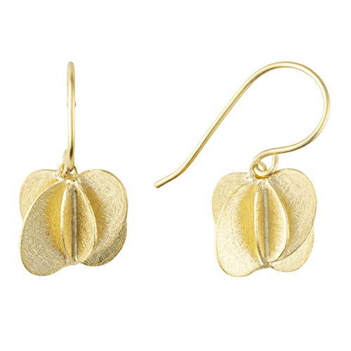 Heideman Ohrringe Damen Rota aus Edelstahl gold farbend matt Ohrstecker hängend für Frauen im Flora Design Anspruch goldfarben poliert ho24701-7