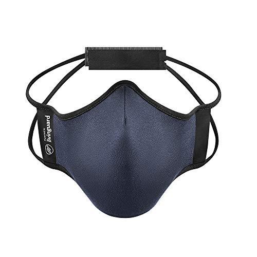 Livinguard- Fitness Mask|Verstellbar,Waschbar|Lyocell (Medium, Steel Blue)