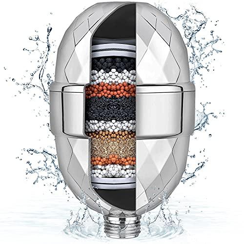 Duschfilter für kalkhaltiges Wasser, Yamctopy Kalkfilter Dusche Verbesserter Wasserenthärter-Duschkopffilter zum Entfernen von Chlor und Schwermetallen, Duschfilter, das die Haut Revitalisiert