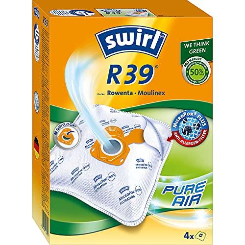 Swirl R 39 MicroPor Plus Staubsaugerbeutel für Rowenta und Moulinex Staubsauger   Dauerhaft hohe Saugleistung   Anti-Allergen-Filter   4 Stück