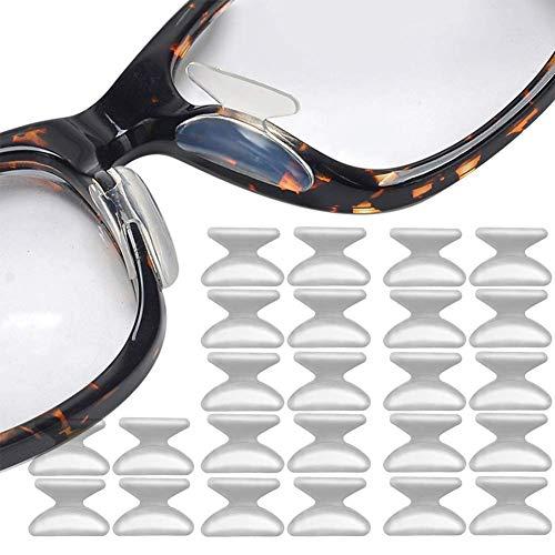 Brille Nasenpads Weiche Silikon Nasenpads Rutschfeste Selbstklebende Nasenpads für Sonnenbrillen 12 Paare Klar 1.8mm