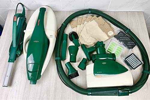 VORWERK Staubsauger KOBOLD VK 131 + Elektrobürste EB 350/351+ 5-teiliges Düsen-Set+ großem Zubehör Paket