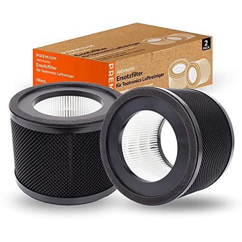 Cherry Tea 2x Filter für Taotronics TT- AP001 Air Purifier Cleaner Luftreiniger Wohnung Schlafzimmer Luft Reinigung Allergiker geeignet Pollen HEPA Aircleaner