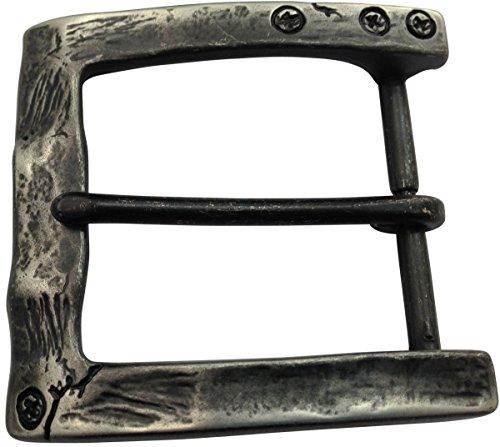 Brazil Lederwaren Gürtelschnalle Used 4,0 cm   Buckle Wechselschließe Gürtelschließe 40mm Massiv   Dorn-Schließe   Wechselgürtel bis 4cm   Altsilber