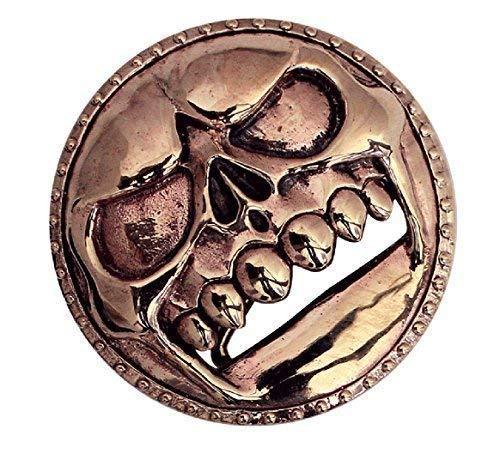 etNox -Gürtelschnalle ''Skull Buckle'' Bronze (BMBuckle)