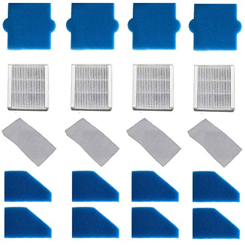 4x FILTER-SET komplett (20-teilig) für Pet & Family, Allergy & Family, Multi Clean X8 Parquet, Multi Clean X10 Parq, X7, Thomas Aqua+ Staubsauger alternativ wie Thomas Filterset 99 (Teile-Nr. 787241)