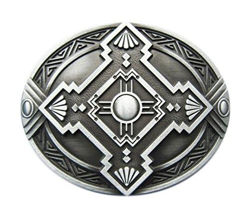 Schnalle123 Gürtelschnalle Celtic Keltisch Schild Wikinger Kreuz 3D Optik für Wechselgürtel Gürtel Schnalle Buckle Modell 243