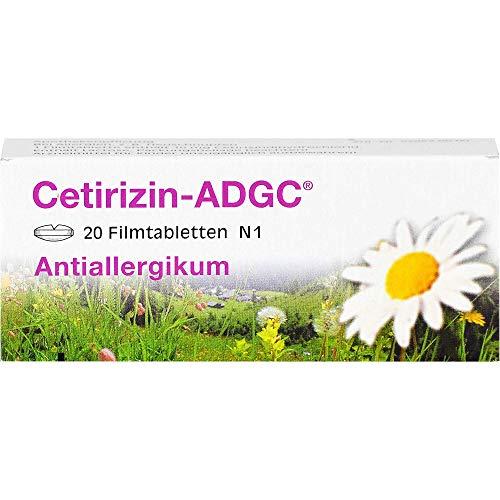 Cetirizin-ADGC Tabletten bei Allergien, 20 St. Tabletten
