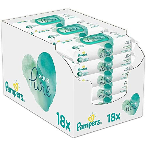 Pampers Baby Feuchttücher Aqua Pure, Mit 99% Purem Wasser, Dermatologisch Getestet, 864 Tücher (18 x 48)
