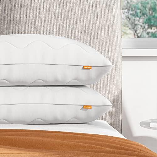 Sweetnight Kopfkissen 40x80 Kissen Schlafkissen Kinder gegen 800g Polyesterholfaser Kissenfüllung mit Reißverschluss [Kissen 40 80 2er Set]