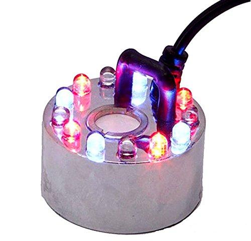 MELARIO 12 LED Vernebler Luftbefeuchter Nebler Ultraschall Für Zimmerbrunnen