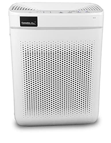 Comedes Lavaero 150 eco - Effizienter 4-Stufen Luftreiniger, Luftfilter inkl. Nanosilbervorfilter, Aktivkohle und HEPA-Filter | CADR 250m³/h | Ideal für Allergiker & Raucher | Räume bis 40m²