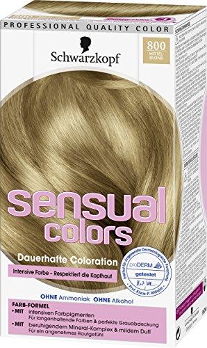 Schwarzkopf Sensual Colors Dauerhafte Coloration 800 Mittelblond, 3er Pack (3 x 142ml)
