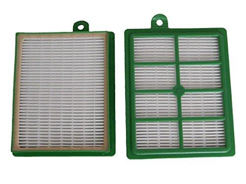 vhbw 2X Ersatz Allergie Hepa 13 Filter Set Philips Marathon FC 9208, FC 9209, FC 9210, FC 9211, FC 9212, FC 9213, FC 9214, FC 9215 wie AEF 12, H12.