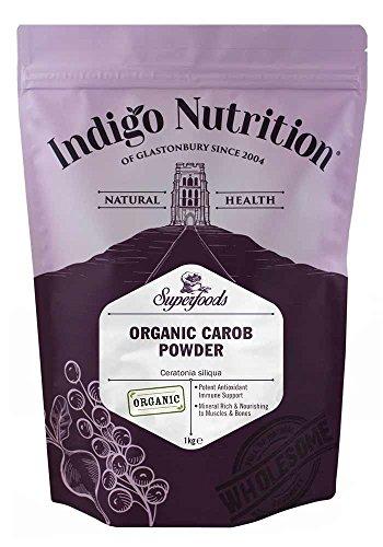 Indigo Herbs Bio Johannisbrotbaum Pulver 1kg | Carobpulver | Vegan | Pestizidfrei