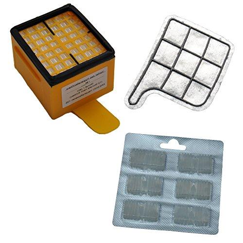 Filterset geeignet für Vorwerk 135, 136 beinhaltet 1 Hepa Mikro Hygienefeinfilter, 1 Motorschutzfilter, 6 Duftpatronen
