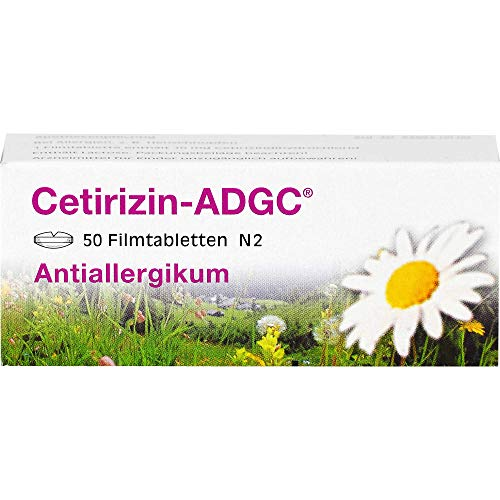 Cetirizin-ADGC Filmtabletten bei Allergien, 50 St. Tabletten