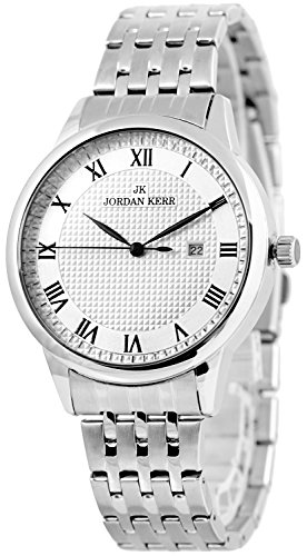 Schicke JORDAN KERR Armbanduhr für Herren nickelfrei analog Datum, ZJ26Z2WA/1