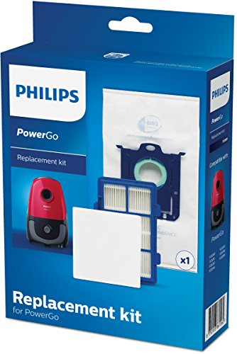 Philips FC8001/01 Ersatz-Filterset für Staubsauger mit Beutel weiß