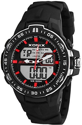 Große Multifunktions XONIX Armbanduhr Herren nickelfrei WR100m