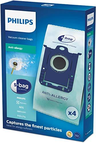 Philips FC8022/04 Original Staubsaugerbeutel s-Bag Antiallergie, 4 Stück