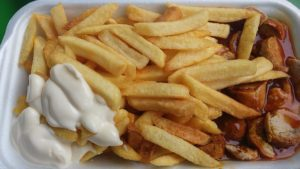 Mayonnaise Allergie, Curry Pommes mit Mayo